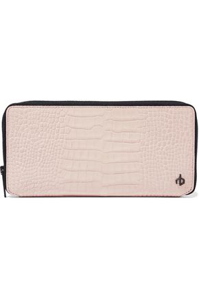 RAG & BONE Croc-effect leather continental wallet