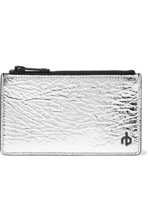 RAG & BONE Metallic crinkled-leather cardholder