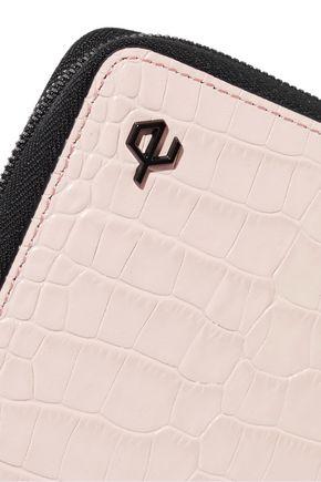 RAG & BONE Croc-effect leather wallet
