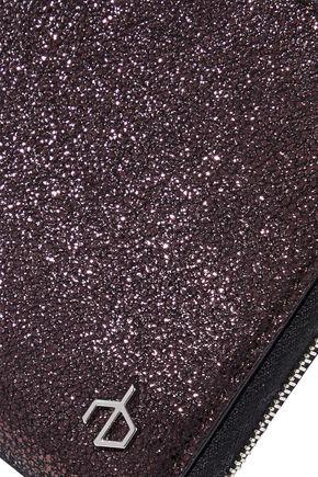 RAG & BONE Metallic brushed-leather wallet