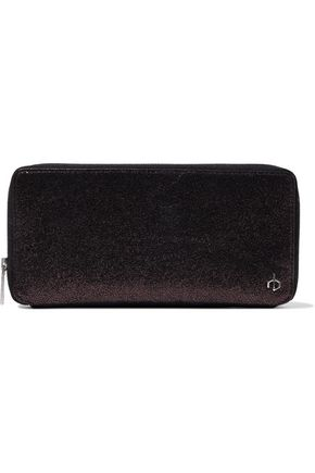 RAG & BONE Metallic brushed-leather wallet