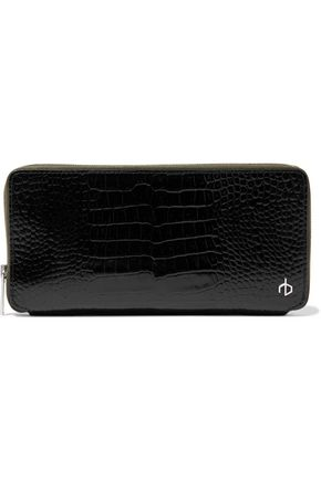 RAG & BONE Croc-effect leather continental wallet