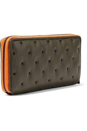 RAG & BONE Dot Dash embroidered textured-leather continental wallet