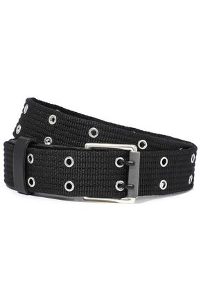 RAG & BONE Wes eyelet-embellished canvas belt