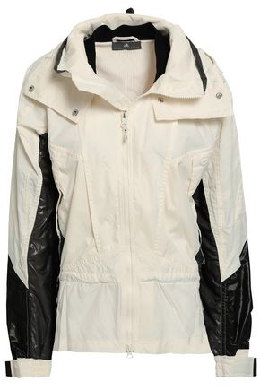 ADIDAS by STELLA McCARTNEY Coated-paneled shell hooded jacket