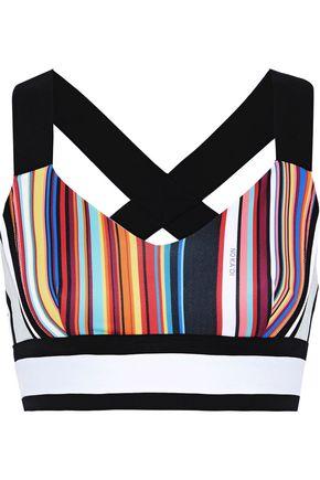 NO KA 'OI Lalani Ola striped stretch sports bra