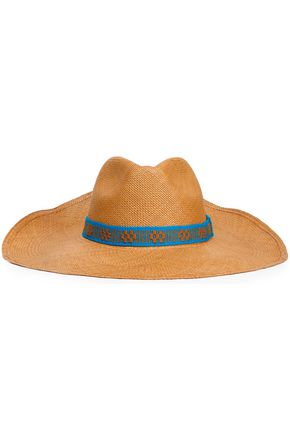 YOSUZI Embroidered straw Panama hat