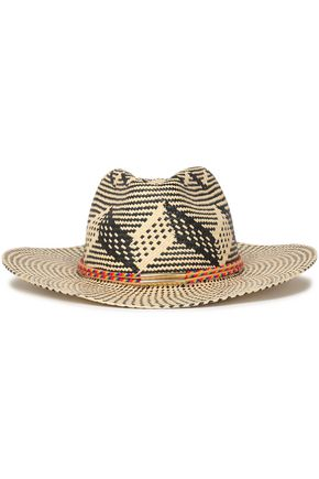 YOSUZI Tasseled woven straw hat