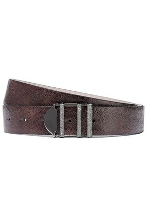 BRUNELLO CUCINELLI Cracked-leather belt
