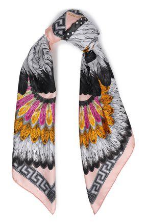 ヴェルサーチ プリント シルクサテンツイル スカーフ