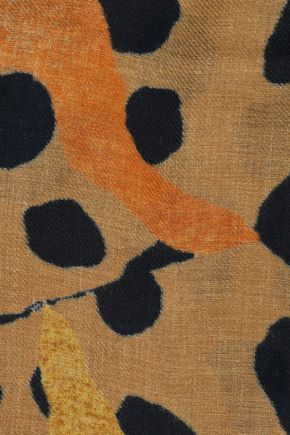 ACNE STUDIOS Leopard-print twill scarf
