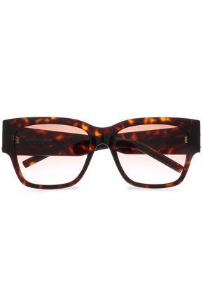 255ec30878 SAINT LAURENT D-frame tortoiseshell-print acetate sunglasses