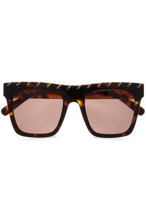 STELLA McCARTNEY Square-frame tortoiseshell-print acetate sunglasses