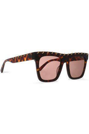 STELLA McCARTNEY Square-frame tortoiseshell-print acetate sunglasses