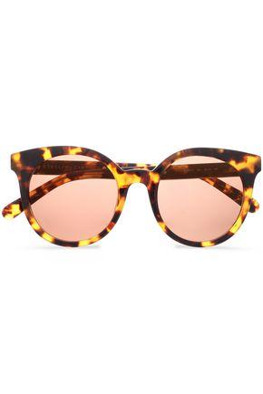 STELLA McCARTNEY Havana round-frame chain-embellished tortoiseshell acetate sunglasses