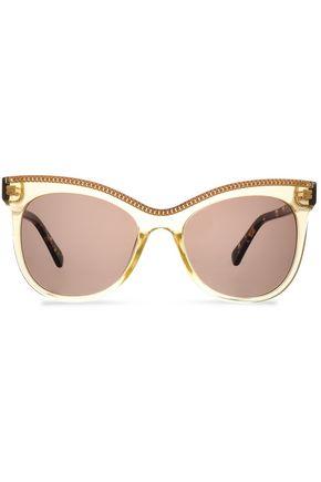 STELLA McCARTNEY Cat-eye chain-embellished acetate sunglasses