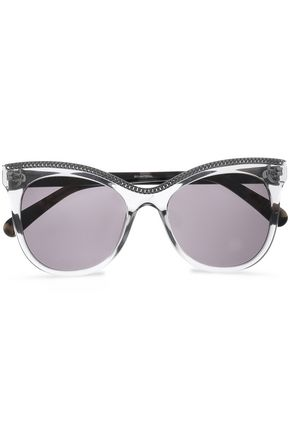 STELLA McCARTNEY Cat-eye embellished acetate sunglasses