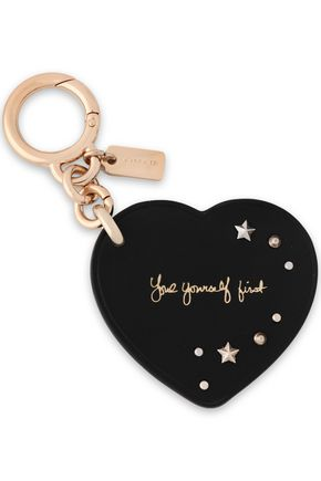 COACH Studded printed leather keychain