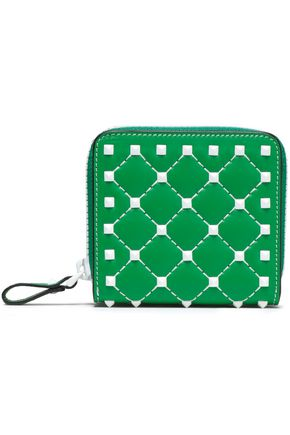 VALENTINO GARAVANI Studded quilted leather wallet