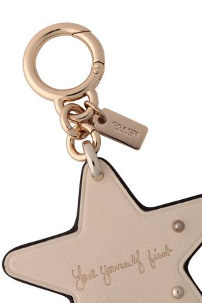 COACH Studded leather keychain