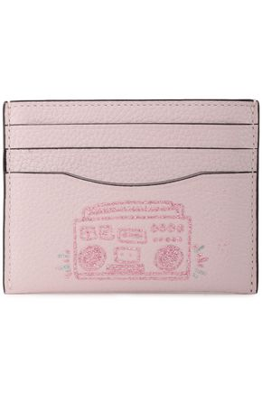COACH Glittered embossed leather cardholder