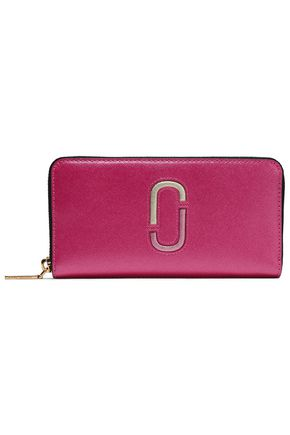 MARC JACOBS Two-tone textured-leather wallet