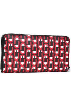 MARC JACOBS Printed leather continental wallet