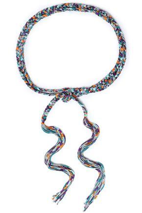 MISSONI Fringed metallic braided knitted belt