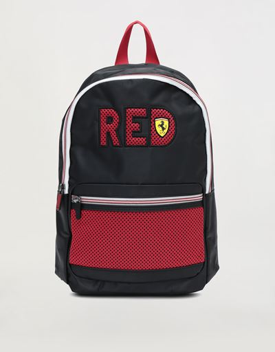 Scuderia Ferrari children's backpack with front pocket