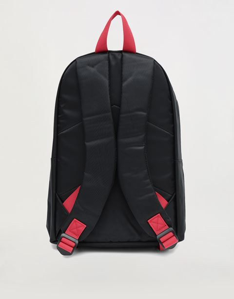 Child's backpack with RED wording