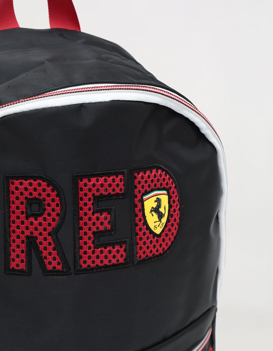Scuderia Ferrari Online Store - Child's backpack with RED wording - School Bags