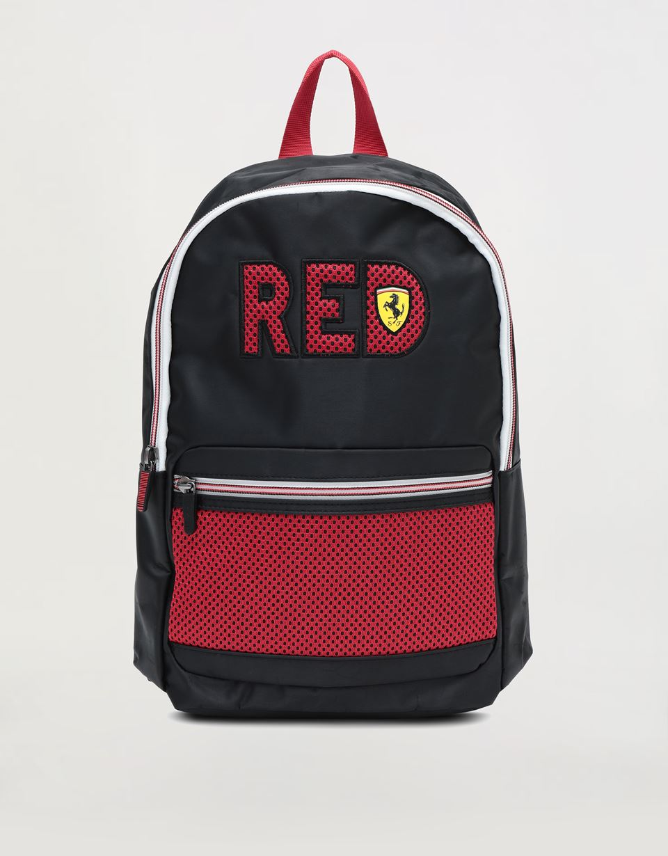 "Scuderia Ferrari Online Store - Children's backpack with ""RED"" wording - School Bags"
