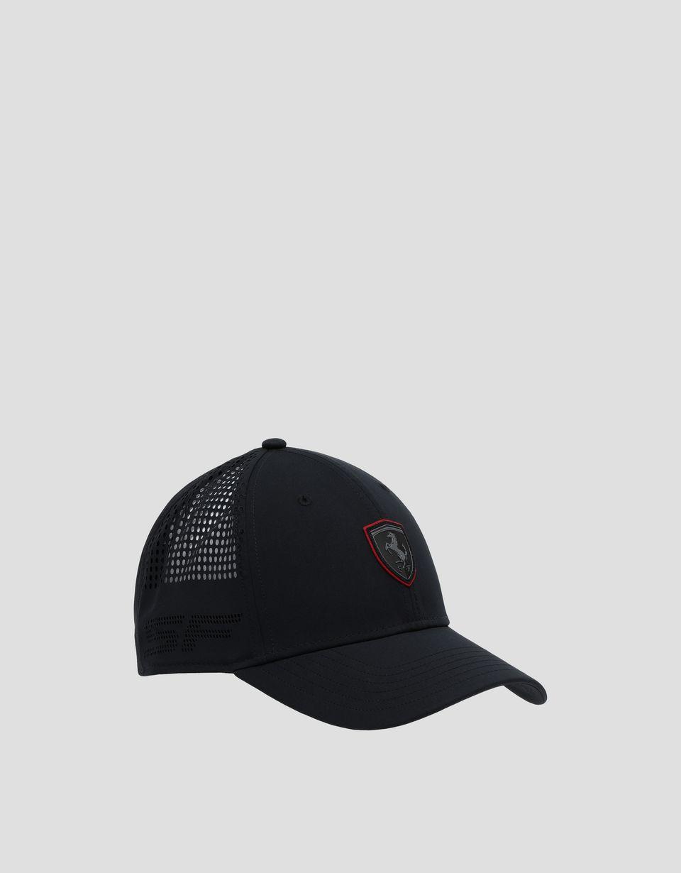 Scuderia Ferrari Online Store - Мужская бейсболка Scuderia Ferrari с перфорированным мотивом - Бейсболки