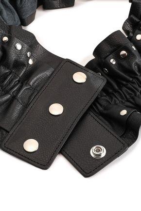 IRO Dobrija studded ruffled leather waist belt