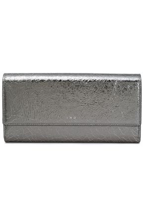 IRO Abel metallic cracked-leather continental wallet