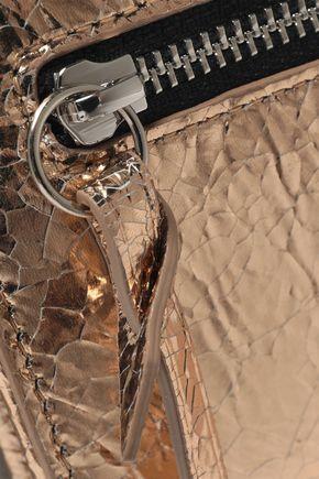 IRO Abel metallic cracked-leather continental wallet