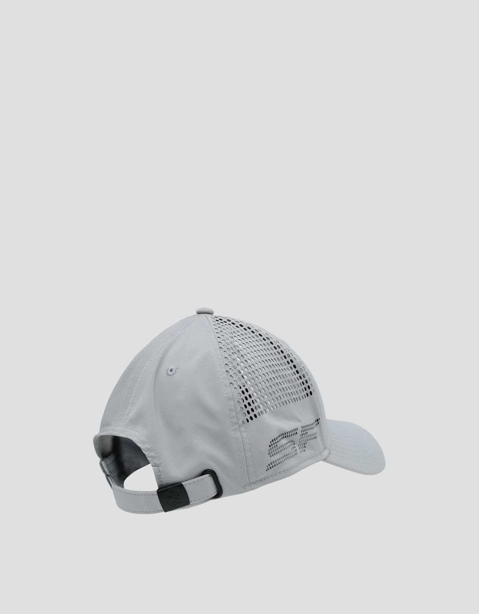 Scuderia Ferrari Online Store - Men's Scuderia Ferrari hat with perforated pattern - Baseball Caps