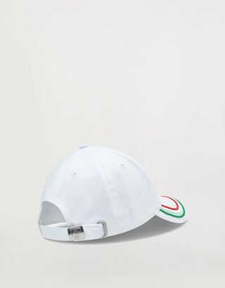 Scuderia Ferrari Online Store - Boys' cap with Italian flag on the visor - Baseball Caps