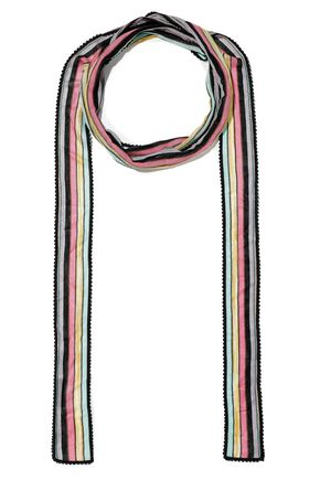 MISSONI Striped crochet-knit scarf
