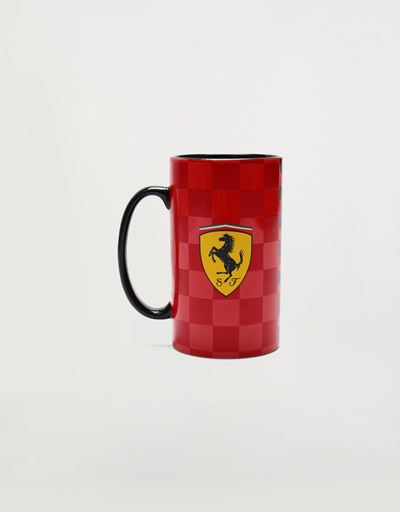 法拉利车队 3D 格纹陶瓷马克杯