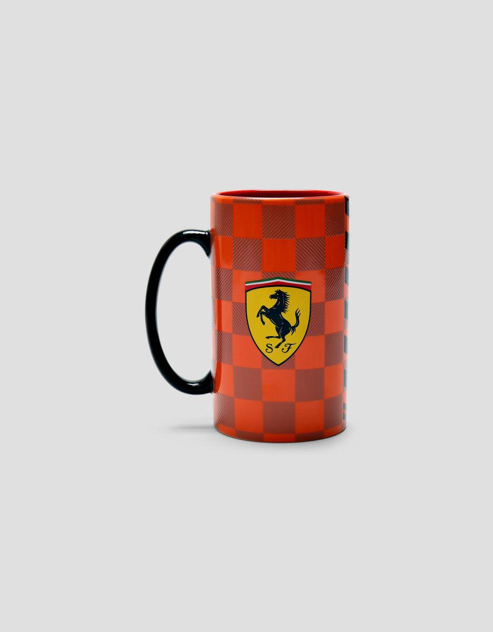 Scuderia Ferrari Online Store - Scuderia Ferrari トールマグカップ チェックプリント - マグカップ&カップ