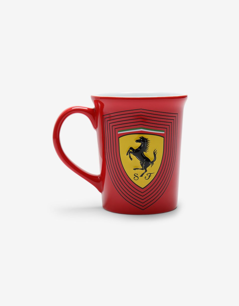 Scuderia Ferrari Online Store - Large ceramic mug with 3D Ferrari Shield - Mugs & Cups