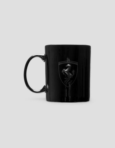 Ceramic mug with Ferrari Shield and metallic finish