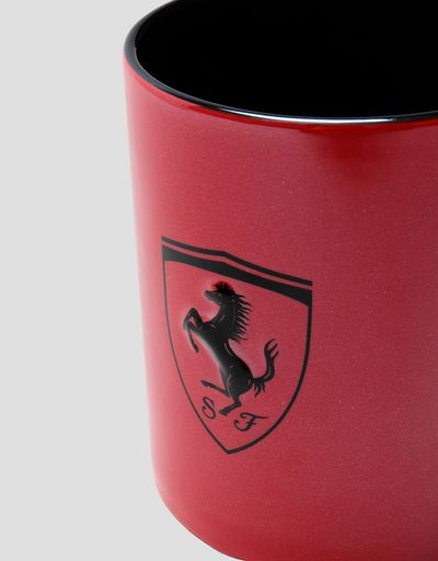 Scuderia Ferrari Online Store - Metallic ceramic mug with Ferrari Shield - Mugs & Cups