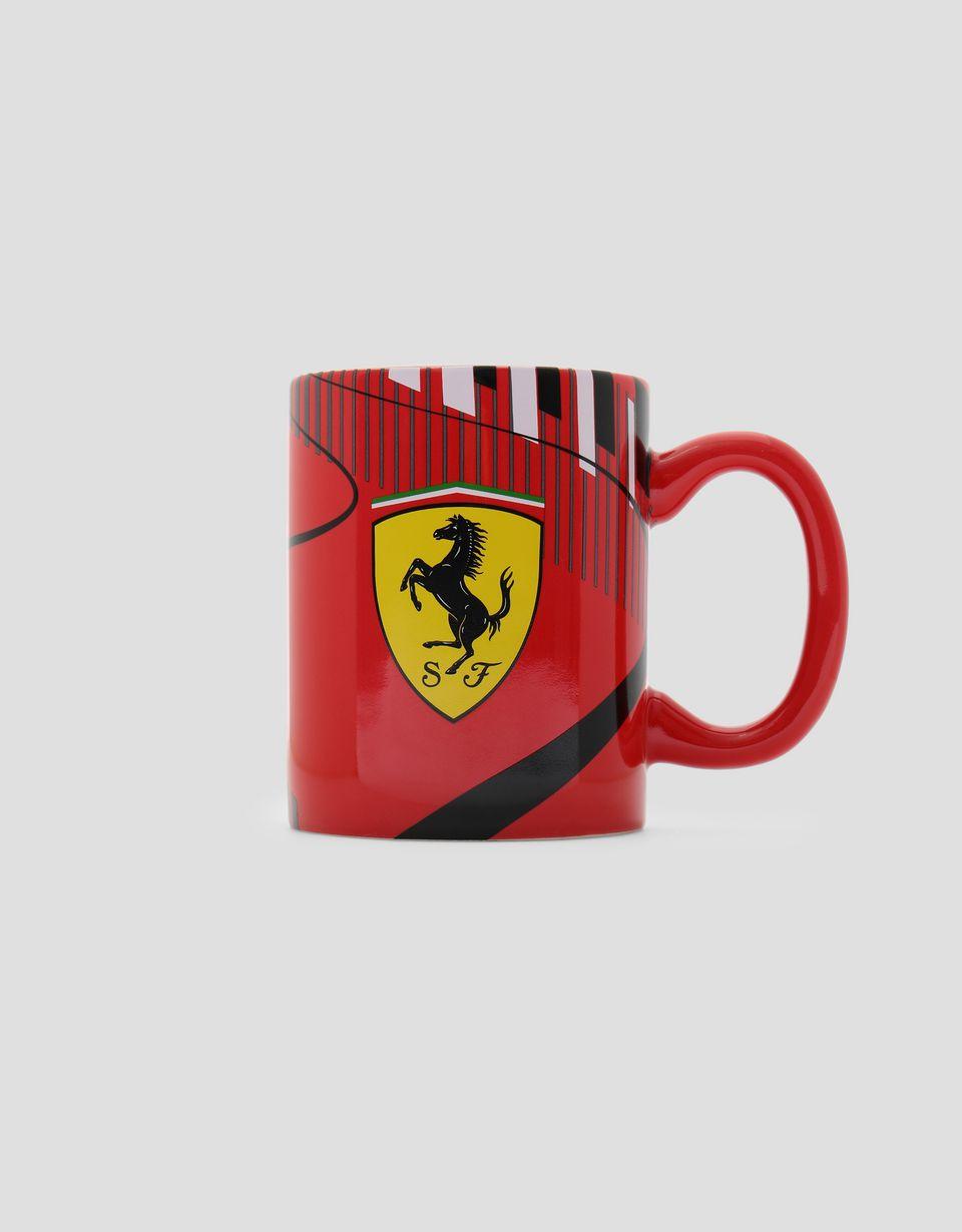 Scuderia Ferrari Online Store - Scuderia Ferrari Race Track ceramic mug - Mugs & Cups