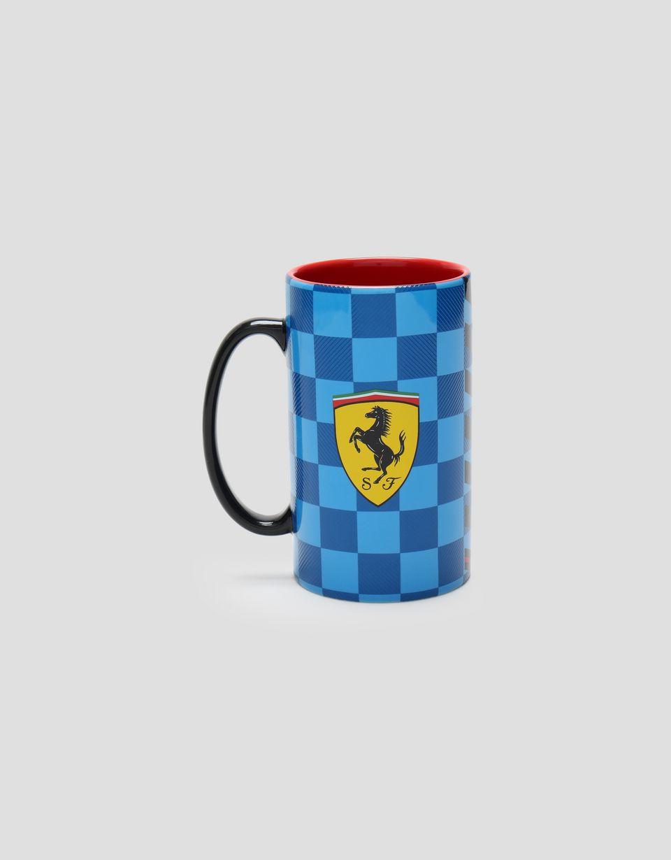 Scuderia Ferrari Online Store - Scuderia Ferrari checked 3D ceramic mug - Mugs & Cups
