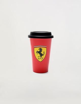 Scuderia Ferrari Online Store - 8.1 oz double-wall porcelain mug with silicone top - Mugs & Cups