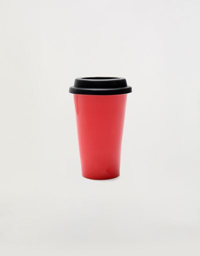 硅胶杯盖 双层瓷马克 杯, 240 ml