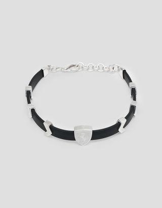 Scuderia Ferrari Online Store - Rubber bracelet with charms and Ferrari Shield - Pendants & Bracelets