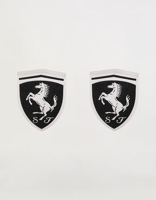 Scuderia Ferrari Online Store - Men's brass cuff-links with Ferrari shield - Cufflinks